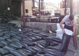 Bitume - préparation des sacs